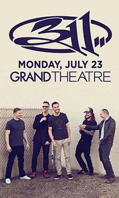 Promotional poster for 311 in the Grand Theatre at Grand Sierra Resort on Monday, July 23, 2018