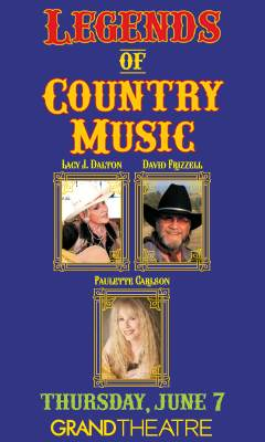 Promotional poster for Legends of Country Music in the Grand Theatre at Grand Sierra Resort on Thursday, June 7, 2018