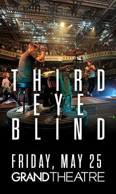 Promotional poster for Third Eye Blind in the Grand Theatre at Grand Sierra Resort on Friday, May 25, 2018