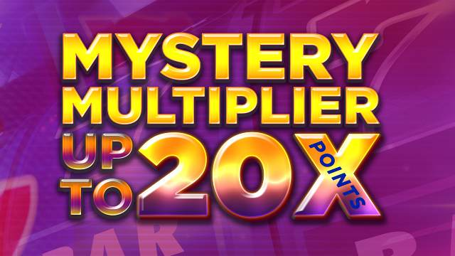 Graphic for Mystery Multiplier with up to 20X points
