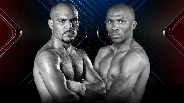 Promotional photo of boxers Beltran and Moses