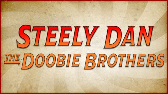 Graphic of band names Steely Dan and The Doobie Brothers