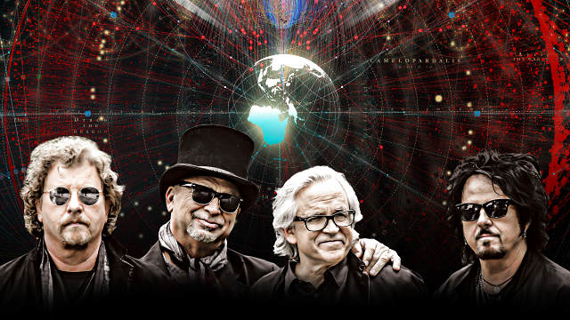 Promotional graphic of the band TOTO