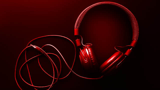 Photo of unplugged red headphones