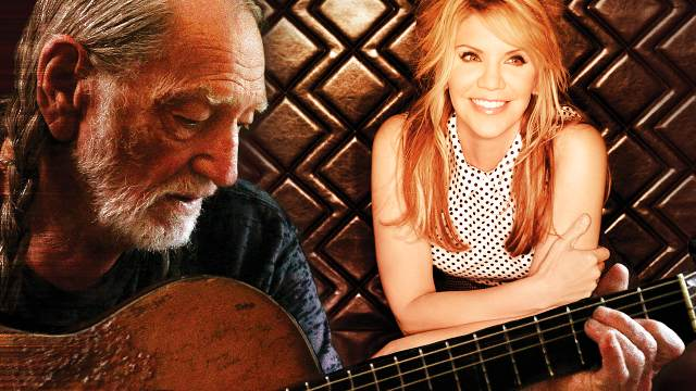 Promotional photo of Willie Nelson and Alison Krauss