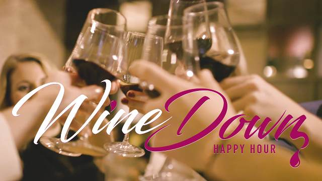 Wine Down Happy Hour logo