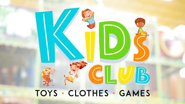 Kids Club logo on store image background