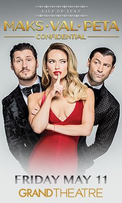 Promotional poster for Maks, Val, Peta: Confidential in the Grand Theatre at Grand Sierra Resort on Friday, May 11, 2018