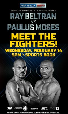 Graphic for Top Rank Boxing Meet and Greet event