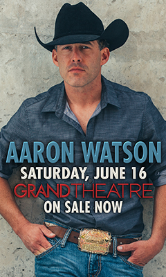 Promotional poster for Aaron Watson in the Grand Theatre at Grand Sierra Resort on Saturday, June 16, 2018