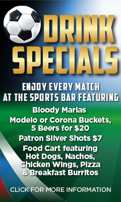 drink specials at the Sports bar
