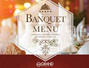 Download our Banquet and Catering Menu