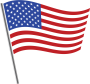 American flag pin image